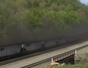 Each coal train spews 1 pound of dust per mile travelled!