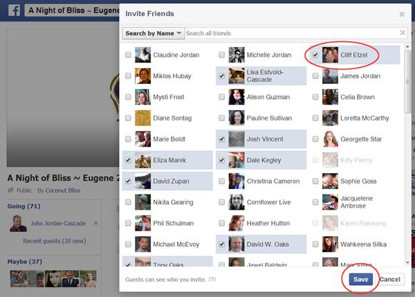 Facebook Events Instruction Step 3
