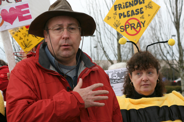 Lane County Commissioner Pete Sorenson gave his support for the effort to protect bees.