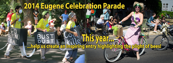 Eugene Celebration Parade plans for 2014 entry highlighting the plight of bees
