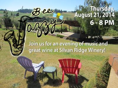 Silvan Ridge Winery - Bee Jazzy - Aug. 21, 2014