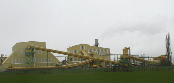 Seneca Sustainable Energy biomass plant - visible plume
