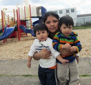 Mother with Children at Lark Park