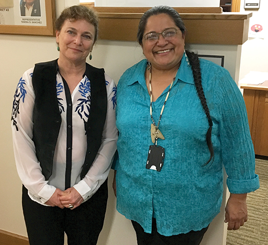 Tawna Sanchez during the 2017 legislative session in Salem.