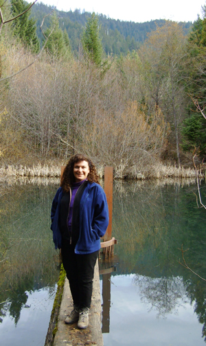 Lisa Arkin, Beyond Toxics Exec. Director, at a resilient forest near Selma, Oregon.
